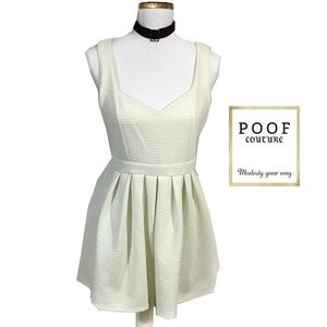 Poof Couture White Heart Shape Back Skater Dress L